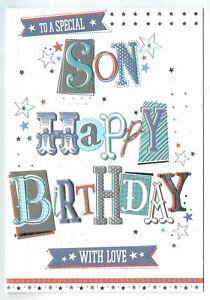 Terrific Son Birthday Card To A Special Son With Love 5054682122036 Ebay Funny Birthday Cards Online Alyptdamsfinfo