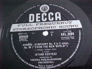 SXL-2289-DVORAK-Symphony-no-5-KERTESZ-First-Press-UK-Decca-LP-MINT-WBG
