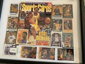 Kobe Bryant Collection Cards And Sports Card Book In Frame Ebay