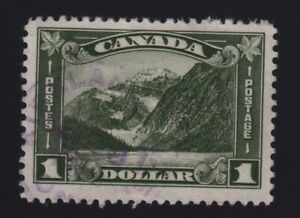 Canada Sc #177 (1930) $1 dark olive green Mount Edith Cavell VF Used
