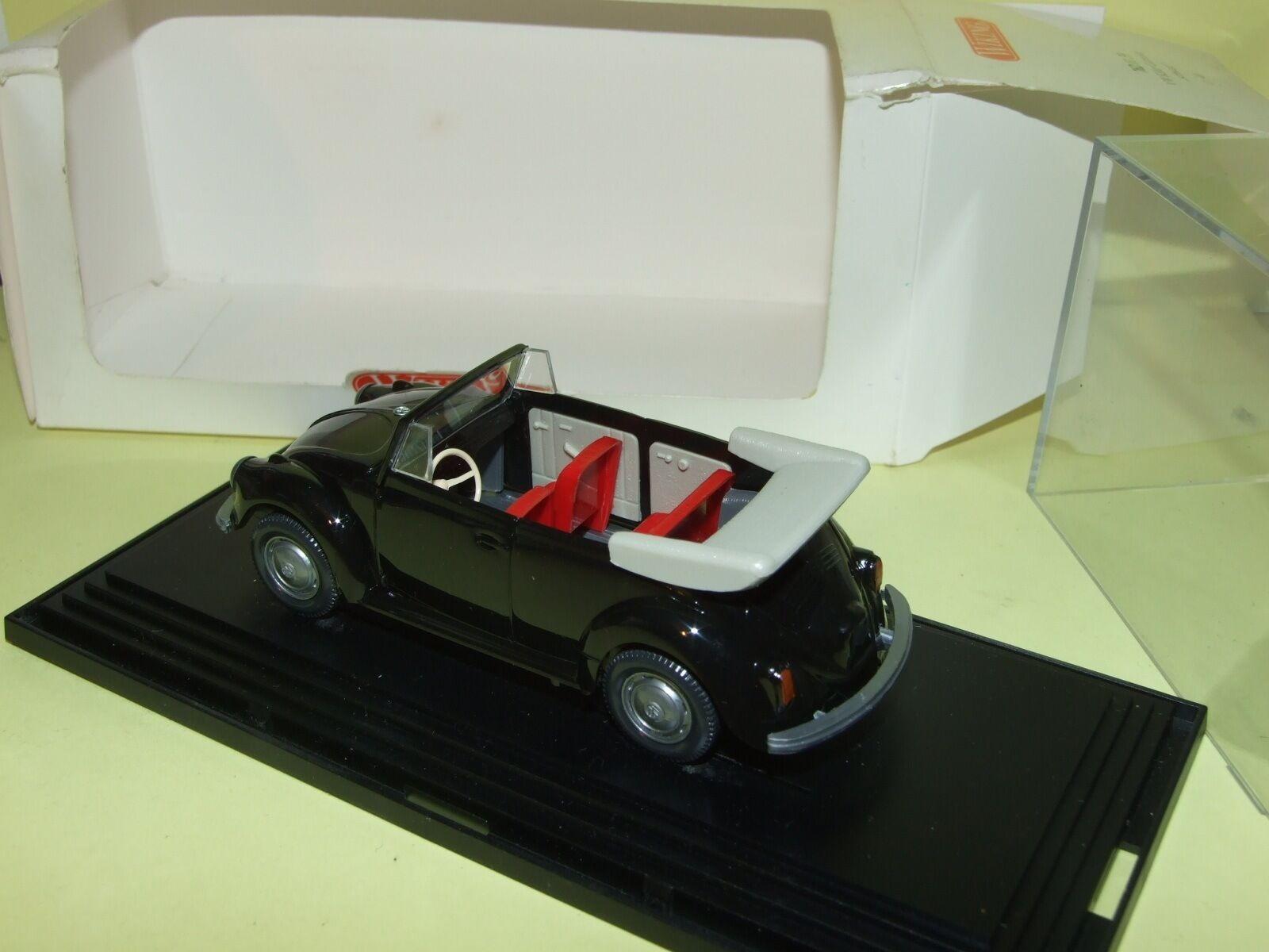 VW COCCINELLE KÄFER CABRIOLET black WIKING WIKING WIKING 1 40 fe1d31