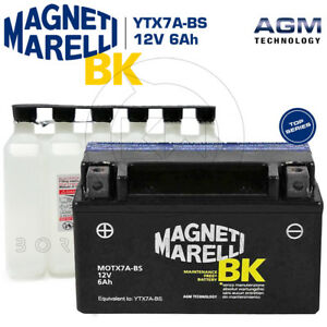 BATTERIA-MAGNETI-MARELLI-YTX7A-BS-12V-6Ah-KYMCO-People-125-S-2009-2010-2011