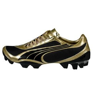 Details about Puma FOOTBALL BOOTS - V1.08 i FIRM GROUND - SOCCER SHOES -  BLACK/GOLD[101455-13]