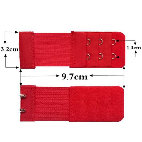 5//10pc Bra Extender 2 Hook Women Elastic Bra Extension Strap Underwear Strapless