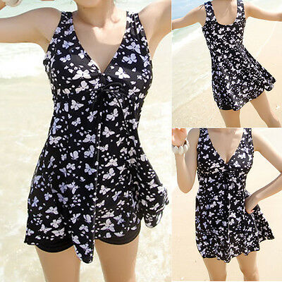 Women Ladies Two Piece Swimwear Swimdress Bathing Suit AU Size 10 12 14 16 #3031
