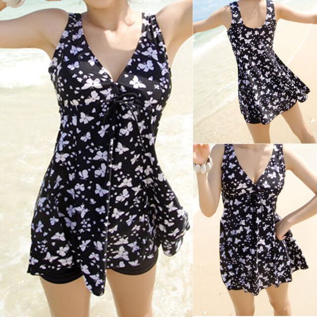 Ladies Swimwear Two Piece Swimdress Tankini Bather Aus Size 8 10 12 14 16 #3031