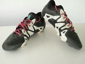 Enfants-Garcons-Adidas-X-Techfit-Noir-Football-Boots-Rivets-Baskets-UK-4-EU-36-5