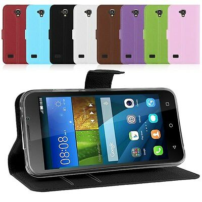 Luxury Flip PU Leather Wallet Card Holder Stand Cover Case For Huawei Y560 Y5