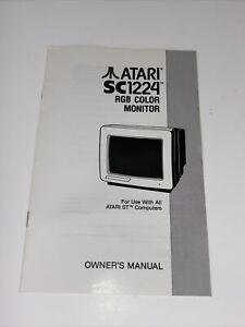 Vintage Atari SC1224 RGB Color Monitor Owner's Manual Very Nice Condition