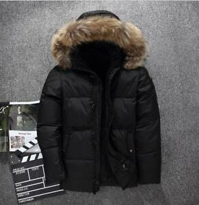 Mens-Duck-Down-Jacket-Fur-Collar-Hooded-Coat-Winter-Warm-Casual-Parka-Outwear-D5