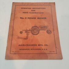 Allis Chalmers No 3 Power Mower Operation Amp Parts Manual Tractor Farm Old