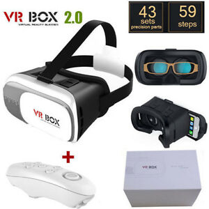 28613bd52844 3D Virtual Reality VR Glasses Headset Box Helmet For Google Samsung ...