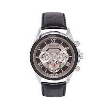 Ashton Carter Multi Function Black Skeleton Watch - AC-1009 - 2 Year MANUF WRNTY