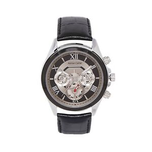 Ashton Carter Multi Function Black Skeleton Watch - AC-1009 - 2 Year MANUF WRNTY