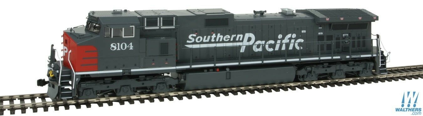 Kato 376631 HO Southern Pacific GE C44-9W Diesel Locomotive  8132  Gris, rosso
