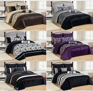 7 Teile Xxl Tagesdecke 240x260cm Patchwork Set Bett Decke Kissen