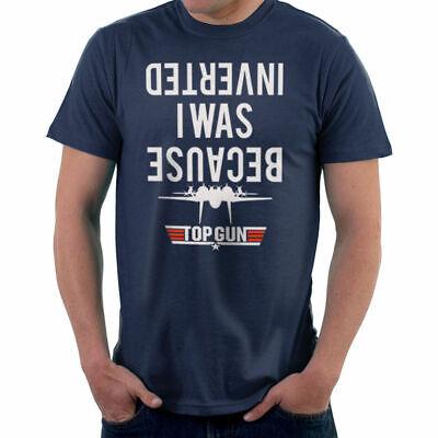 Official Men/'s Top Gun Because I Was Inverted Ringer T-Shirt