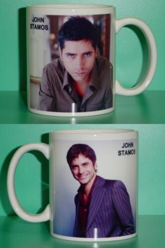JOHN STAMOS - with 2 Photos - Designer Collectible GIFT Mug 01