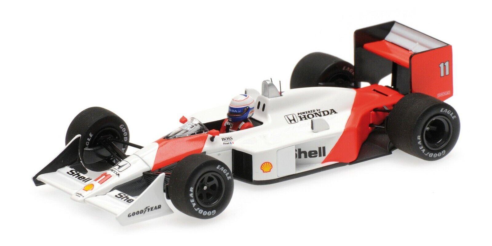 Minichamps F1 McLaren Honda MP4-4 Alain Prost 1 43 Winner Brazilian GP 1988