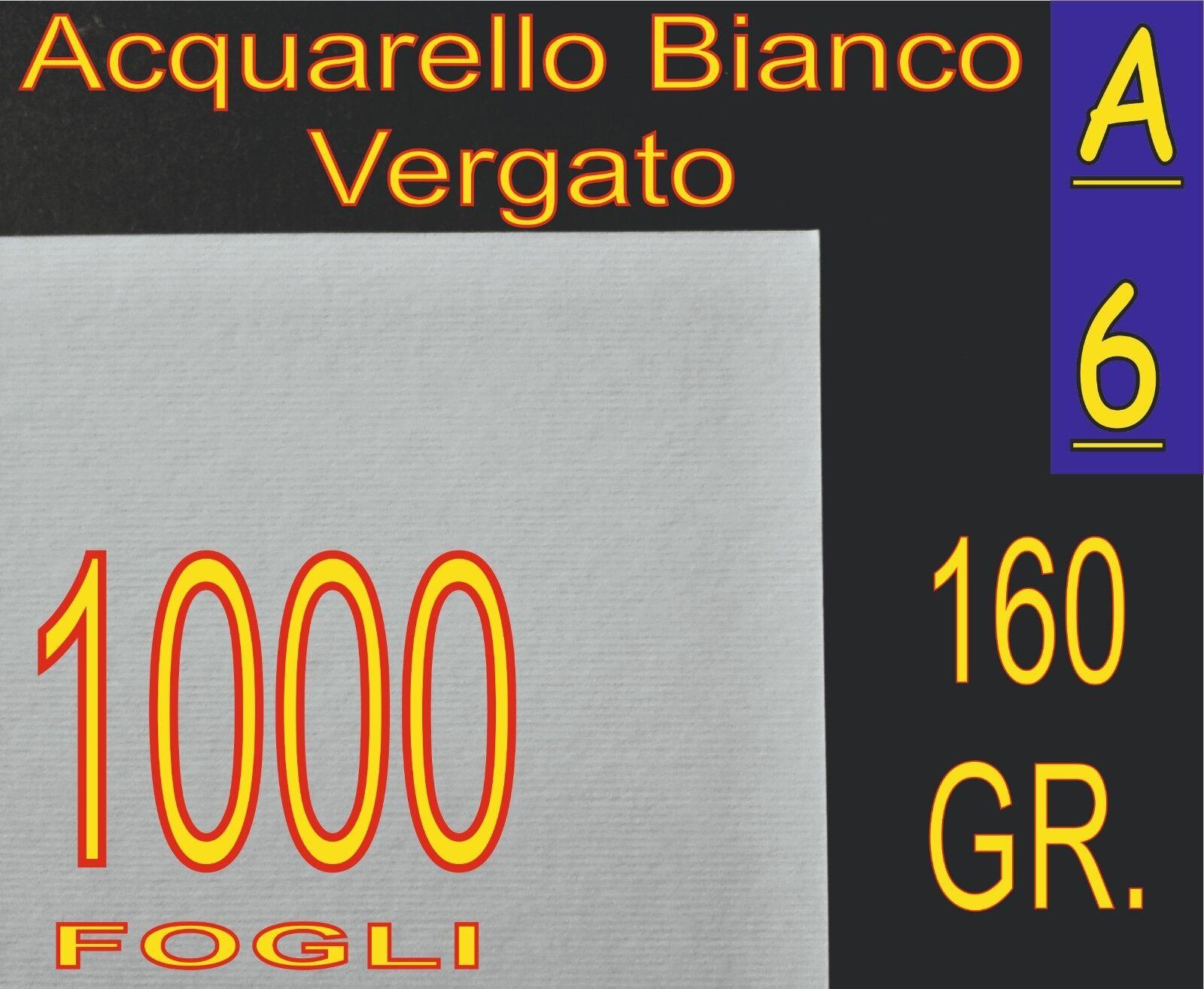 SCONTO 1000 FOGLI CARTA VERGATA ACQUARELLO BIANCO X STAMPANTI LASER- INKJET A6