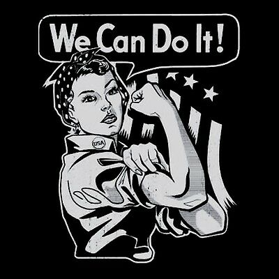 ROSIE THE RIVETER We Can Do It SHIRT  Vtg Style, Steampunk, Feminist MENS/WOMENS