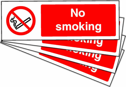 No SMOKING Adhesive Stickers Labels Signs x 10