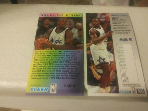 SHAQUILLE O'NEAL 1993 94 Fleer NBA Jam Session lot of 2 carrds