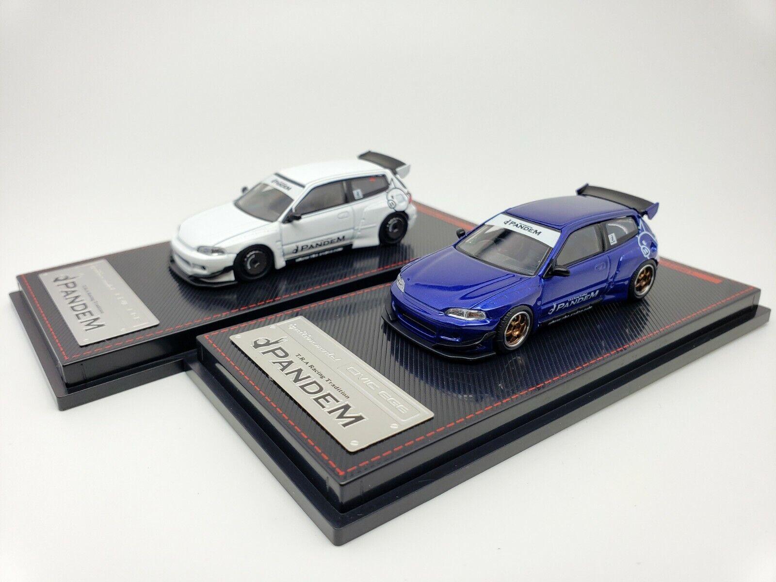1  64 Ignition Honda Civic EG6 PANDEM JDM blanc IG1415 bleu IG1412 Limited Ed.nouveau  assurance qualité