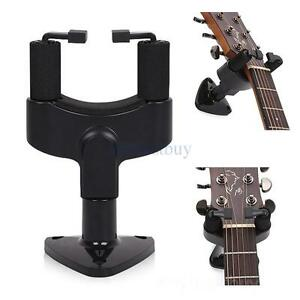 guitar wall mount hanger stand holder hooks for acoustic bass electric ukulele 678888466296 ebay. Black Bedroom Furniture Sets. Home Design Ideas