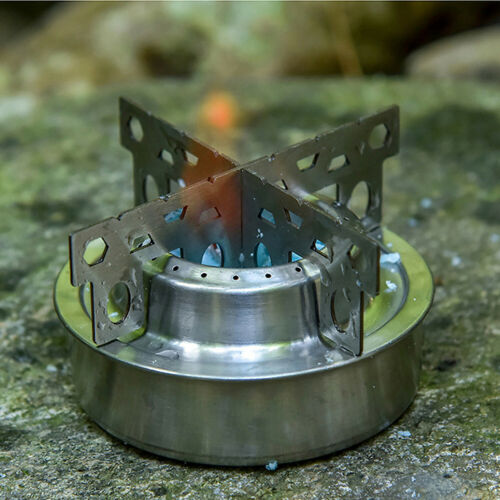 Lixada Outdoor Camping Aluminum Alloy Mini Alcohol Stove with Cross Stand