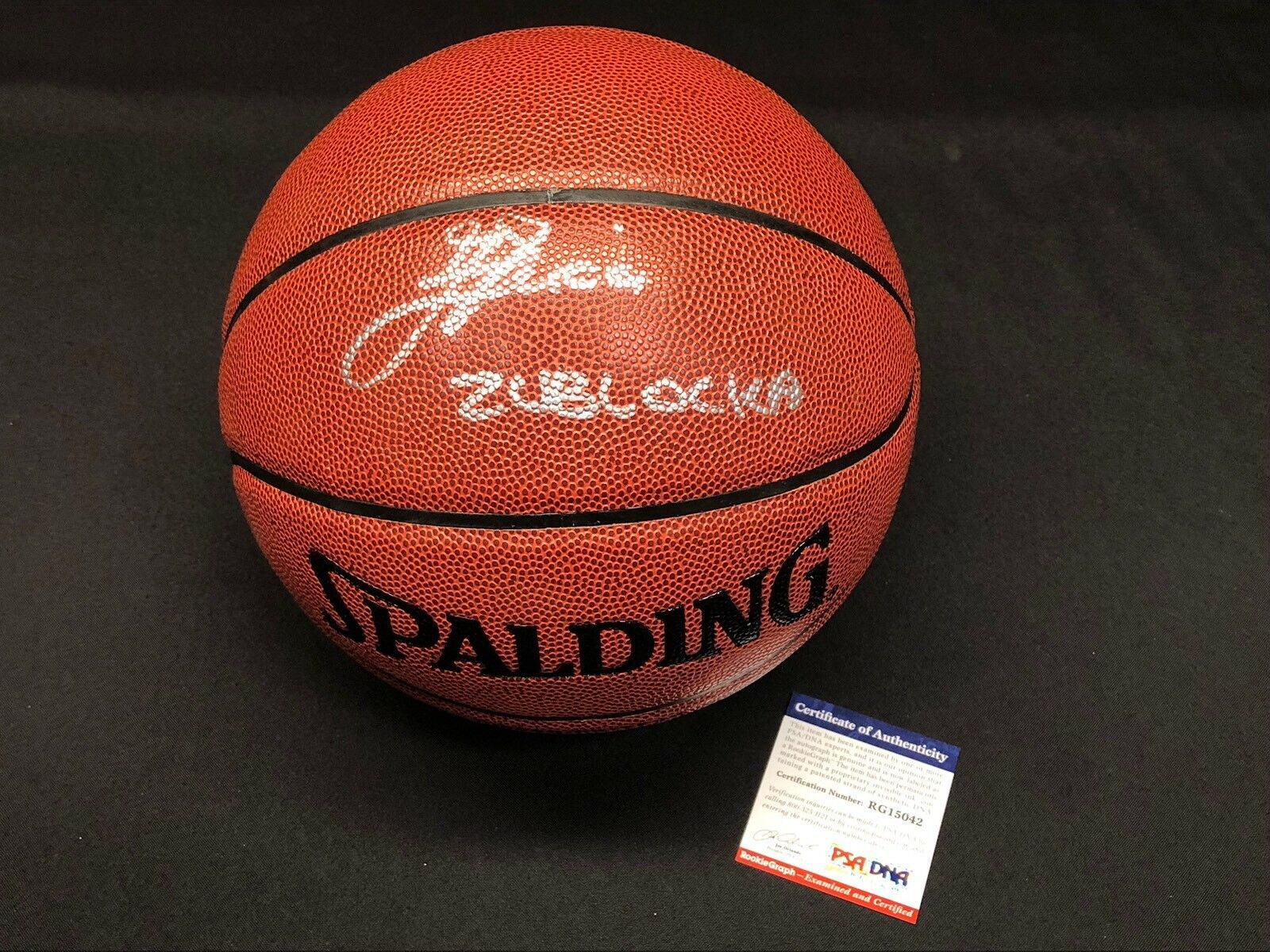 Ivica Zubac Signed Spalding NBA I/O Basketball