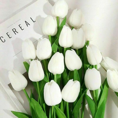5//10 Artificial Tulip Flowers Bouquet Real Touch Home Garden Wedding Plant Decor