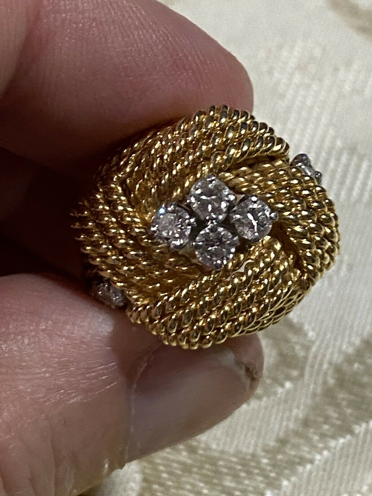 Vintage Gold And Diamond Ring - image 1