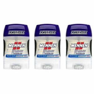 LOT-3-Mennen-Deodorant-Gel-Ultra-Frais-Anti-Transpirant-X-Treme-Pacific-Blue