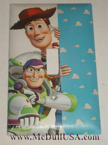 Image is loading Toy-Story-Woody-&-Buzz-Lightyear-Light-Switch-  sc 1 st  eBay & Toy Story Woody u0026 Buzz Lightyear Light Switch Power Duplex Outlet ...