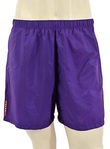 $295 Prada Violet Nylon Piuma Shorts de bain Trunks nouvelle collection