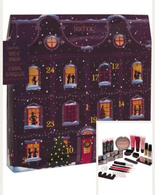 Beauty Advent Calendar.Makeup Technic Mansion Cosmetic Advent Calendar 24 Day Christmas Countdown