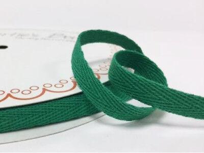 2 metres Red 10mm Cotton Herringbone Tape Webbing Ribbon Sewing Clothes Binding