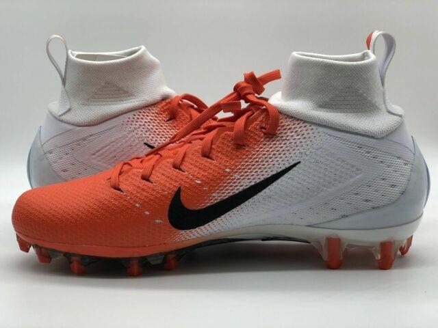 f2bc59c0 Nike Vapor Untouchable Pro 3 Football Cleats 917165-106 White Orange Mens 13