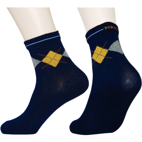 """6 Pairs Lot Womens Navy Diabetic Socks L160 /""""Skin contact surface is 100/% cotton"""