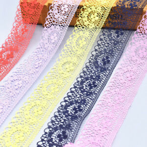 10yd-Vintage-Embroidered-Lace-Edge-Trim-Ribbon-Applique-DIY-Crochet-Sewing-Craft
