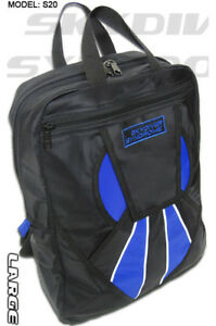 Large-Skydiver-Syndrome-Backpack-Book-Bag-Parachute-Rig-Container-Blue-L-S20