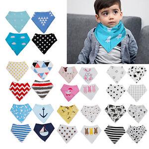 4PCS-Baby-Kids-Unisex-Bandana-Bibs-Feeding-Saliva-Towel-Dribble-Bandage-Triangle