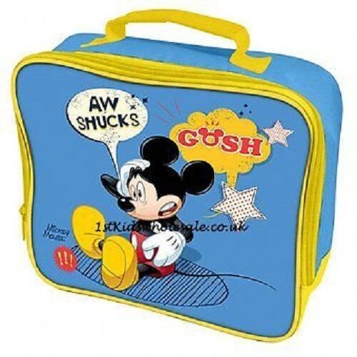 Mickey Mouse Disney Lunch Bag Childrens Kids Boys girls blue picnic school
