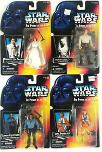 Star-Wars-Kenner-Power-Of-The-Force-POTF-Luke-leia-Han-solo-Labdo-1996-Sealed