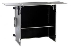 info desk theke dj tisch case ablage flyht pro flightcase messe ebay. Black Bedroom Furniture Sets. Home Design Ideas