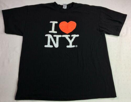 I Love NY Men's XL Black SS T-shirt I love NY Grap