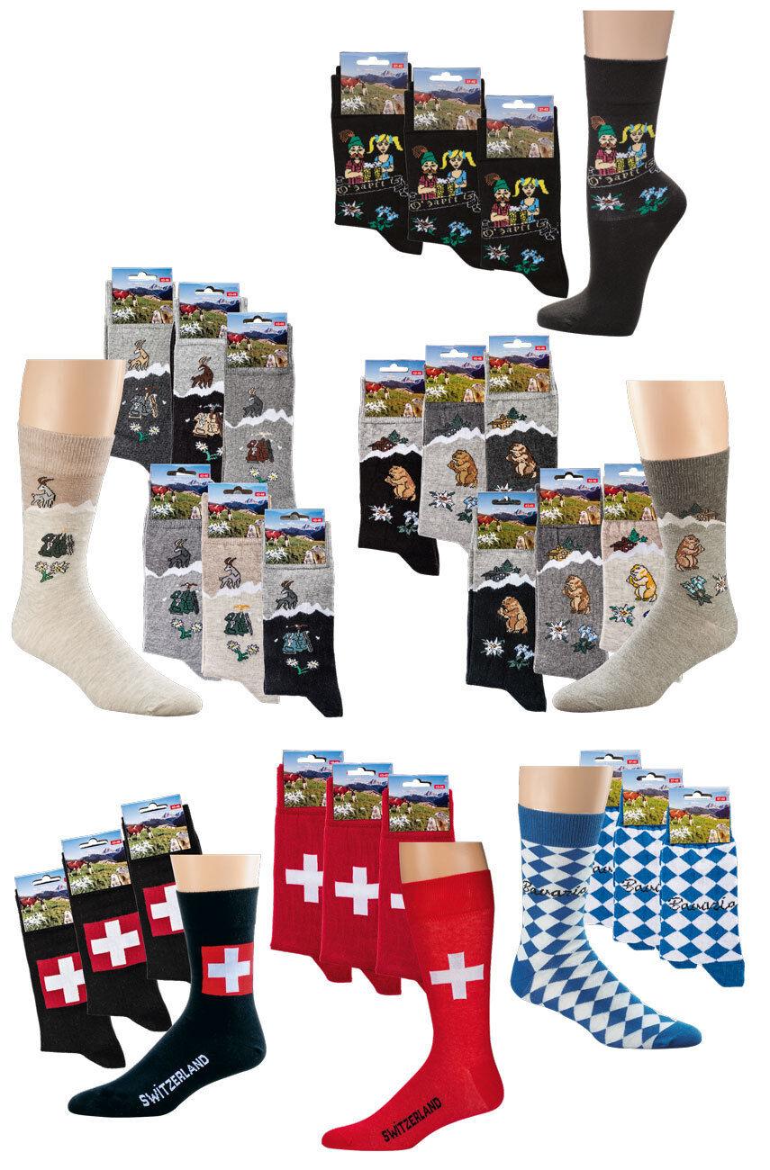 Trachten-Socken mit Motiv, im 3er Pack Oktoberfest Socken