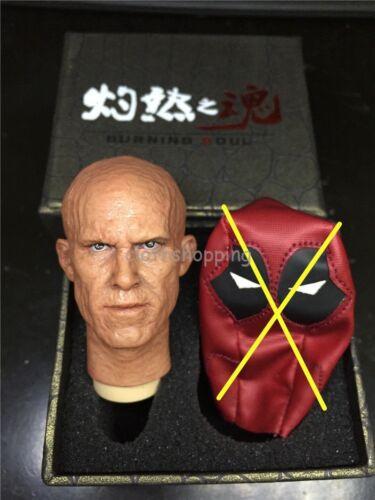12/'/' Hot Figure Toys 1//6 Scale Deadpool Burned Head Sculpt /& Double Carving