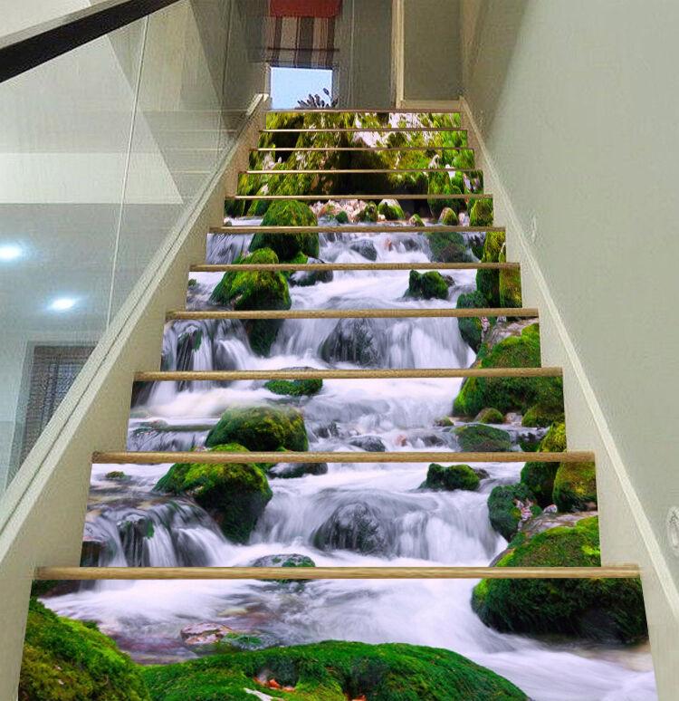 3D Leaf falls 363 Stair Risers Decoration Photo Mural Vinyl Decal Wallpaper UK